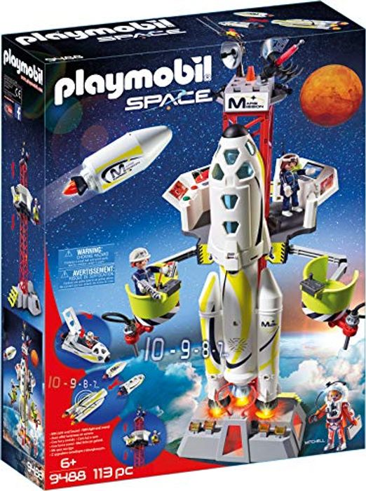 Playmobil 9488 Space Mission Rocket with Launch Site with Lights