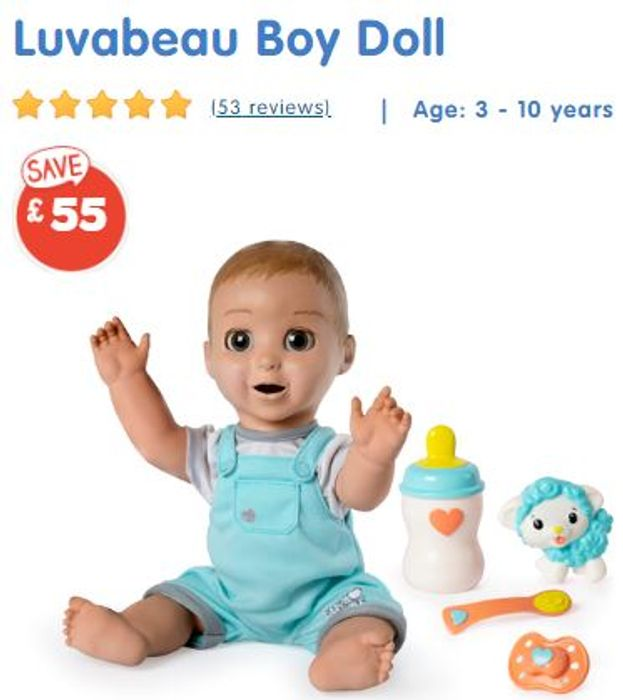 £55 OFF! Luvabeau Interactive Doll (The Boy Luvabella)