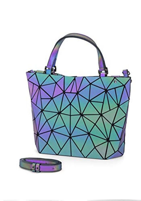 Cheap Majestic Peacock Geometric Holographic Handbag at Amazon Only £25.9