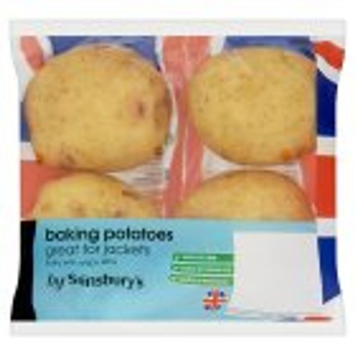 Sainsbury's Baking Potatoes X4