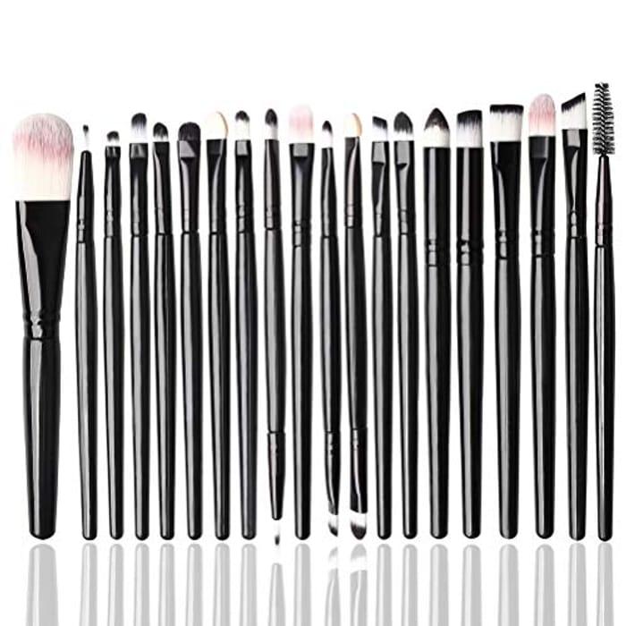 20Pcs Make up Brush Set,Blending Brush Cosmetic Brushes Kit for Eye Lip
