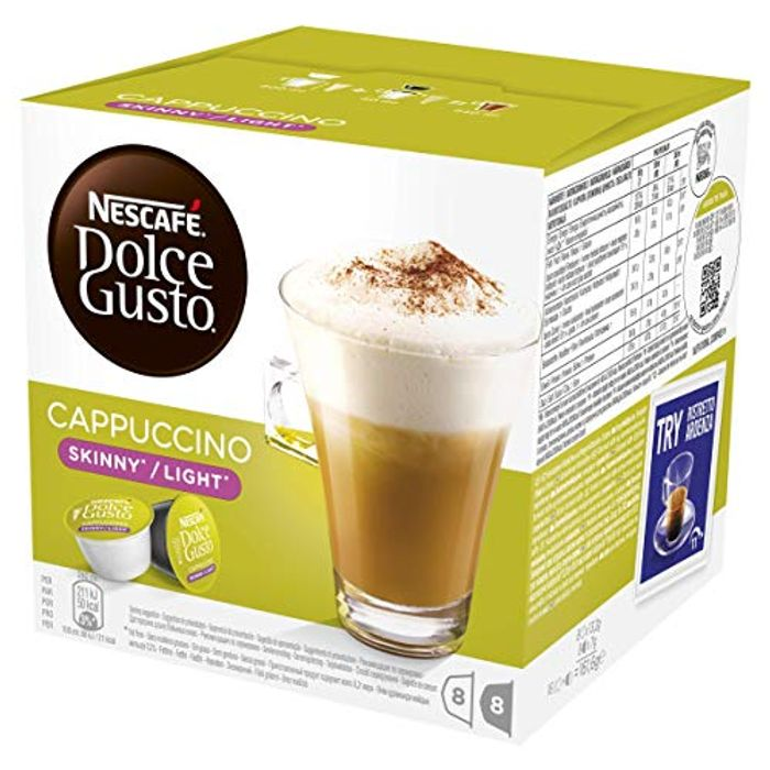 NESCAFE DOLCE GUSTO Skinny/Light Cappuccino Coffee Pods 48 Capsules, 24 Servings