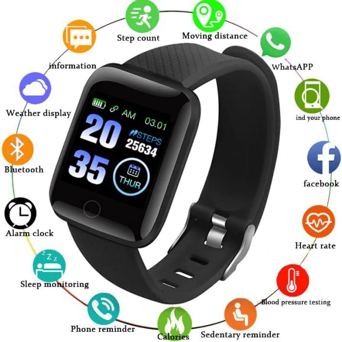 *New Users of Aliexpress* Smart Watch Men Blood Pressure Waterproof 116