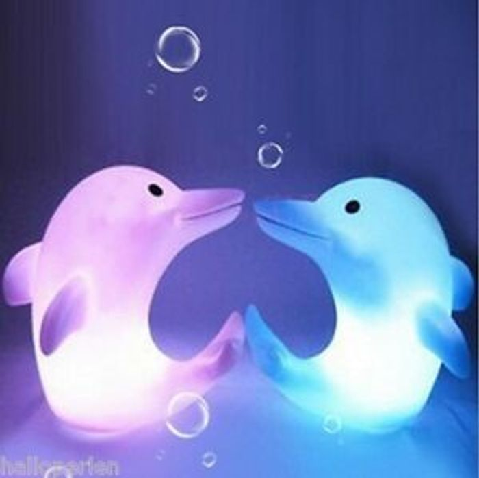 1PC Cute Dolphin Shape LED Night Light