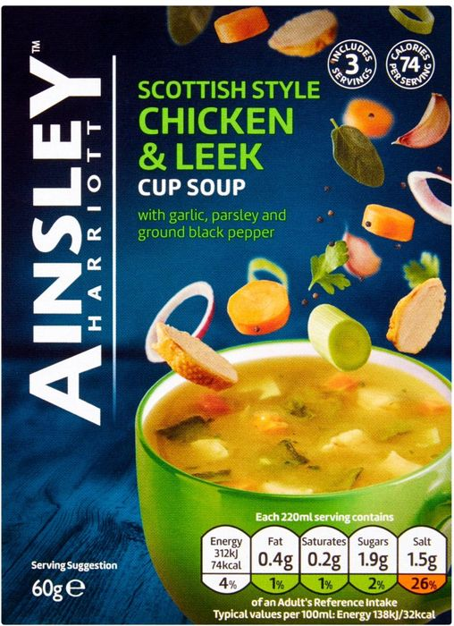 Ainsley Harriott Scottish Style Chicken & Leek Cup Soup with 50% Discount