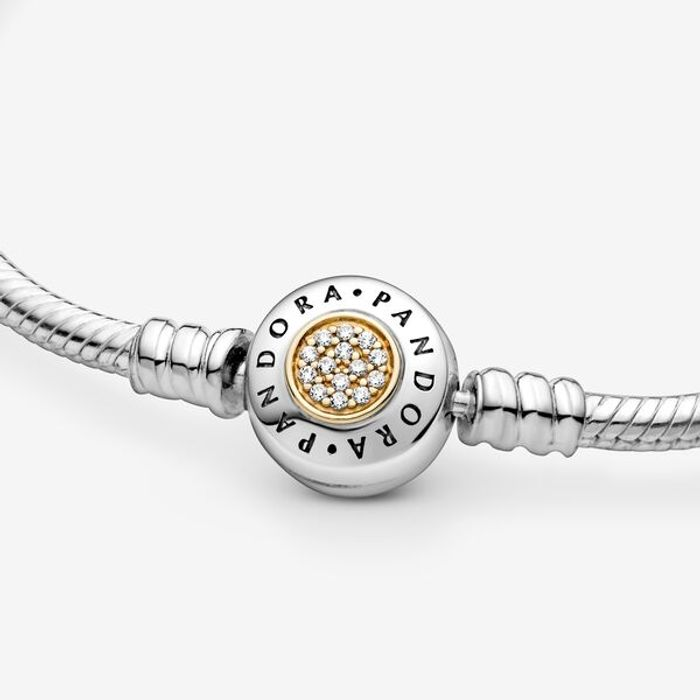 Best Price Pandora Moments Two Tone Bracelet with Pandora Signature Clasp