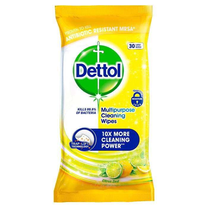 Dettol Multi Purpose Citrus Wipes 30S