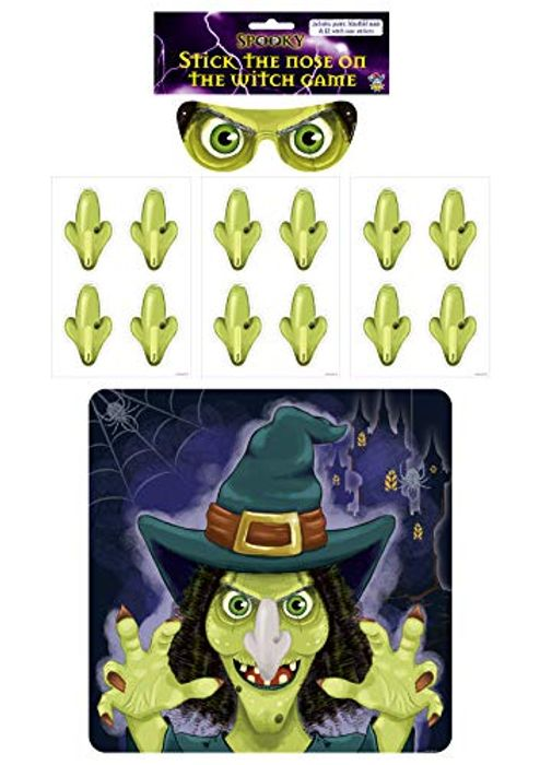 Halloween Party Game - Stick the Nose on the Witch