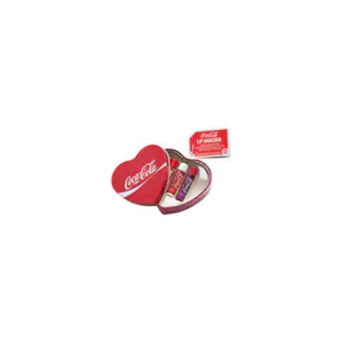 Lip Smacker Coca Cola Lip Balms 3 Piece Heart Shaped Tin