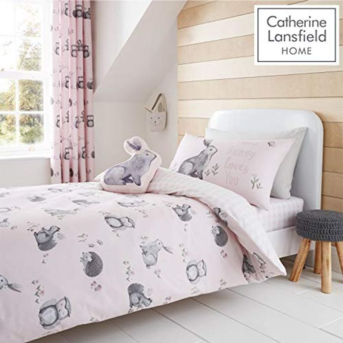 Best Ever Price! Catherine Lansfield Woodland Friends Easy Care Double Duvet Set