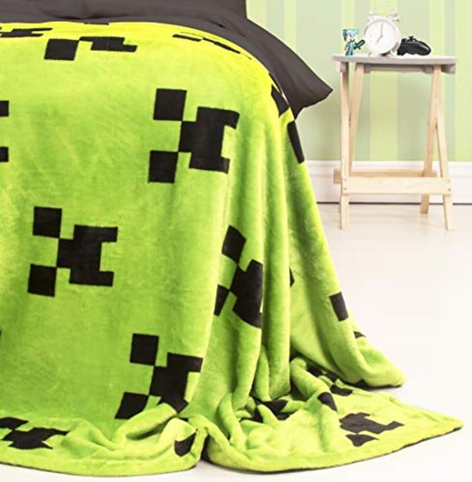 Best Ever Price! Minecraft Official Emerlald Fleece Throw