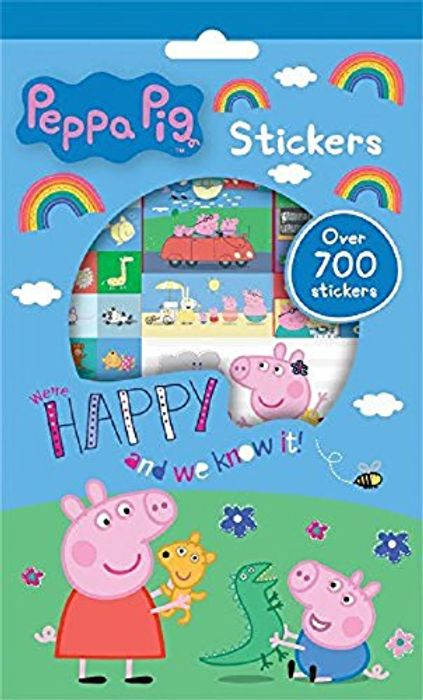700 Peppa Pig Re-Usable Stickers - FREE DELIVERY