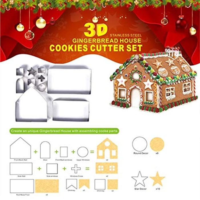 18Pcs Christmas 3D Baking Mold 70% off + Free Delivery