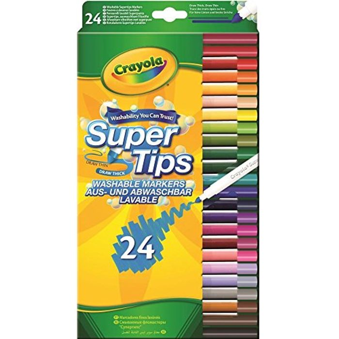 Cheap Crayola Washable Felt Tip Colouring Pens, 24 Pack, Only £4.5