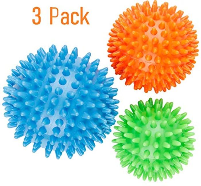 Cheap 3 Pack Best Spiky Massage Roller Balls - Only 5.99!