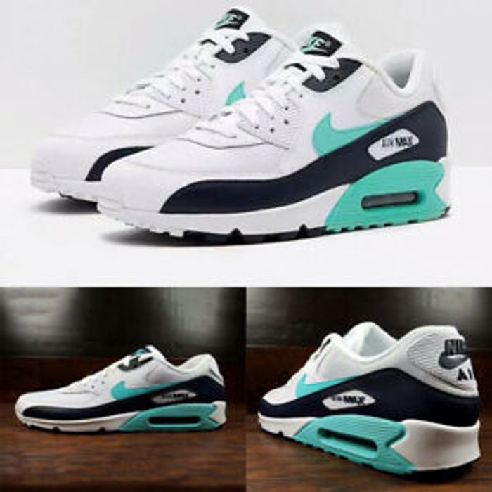 AIR MAX 90 Mens Womens Green Colour Trainers Classic Sneaker Running Shoes