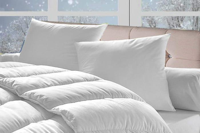 15 Tog Winter Bounce Back Duvet & 4 Pillows - 4 Sizes!