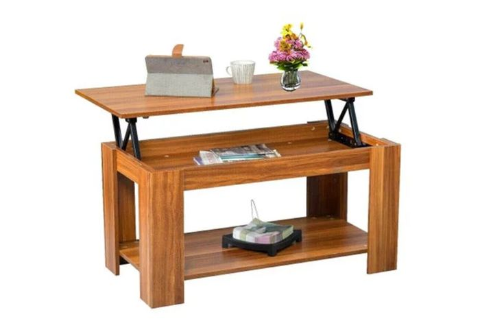 Lift up Top Coffee Table W/ Storage & Shelf - 4 Colours!