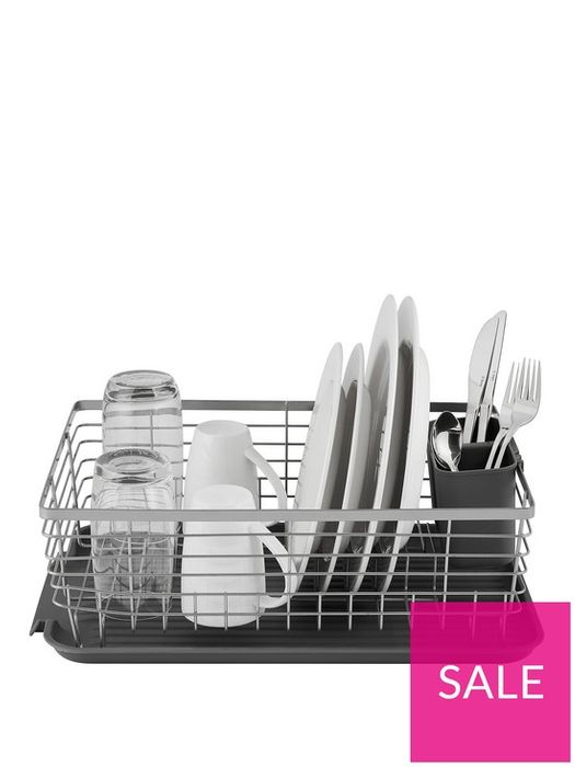 Compact Dish Rack and Cutlery Holder
