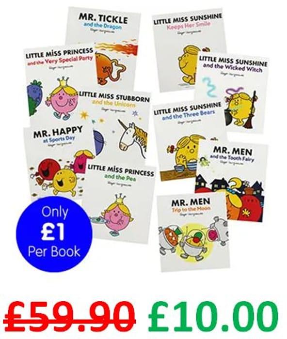 ONLINE ONLY! Mr Men & Little Miss - 10 Book Bundle - save £49.90!