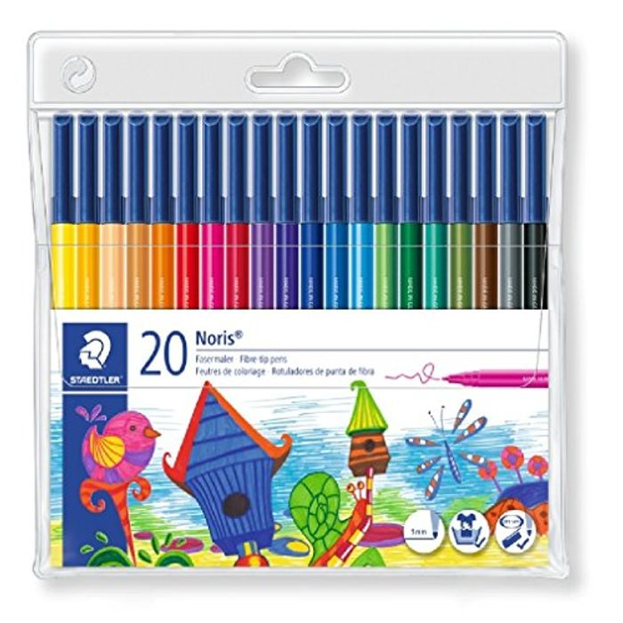 20 Staedtler Noris Fibre Tip Pens On Sale From £10.98 to £6.15