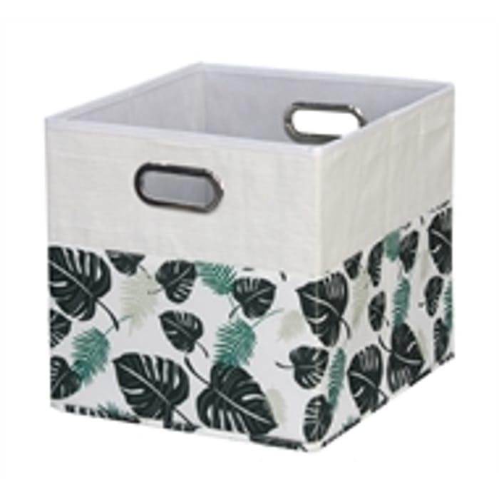 Homebase Canvas Print Cube Storage