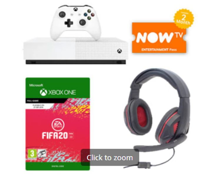 1TB XBOX ONE S ALL DIGITAL EDITION+FIFA20+GAMEWARE STEREO HEADSET Only £169