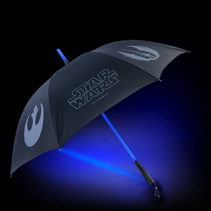 Best Price! Star Wars Official Lightsaber Umbrella with Torch Handle Light Side