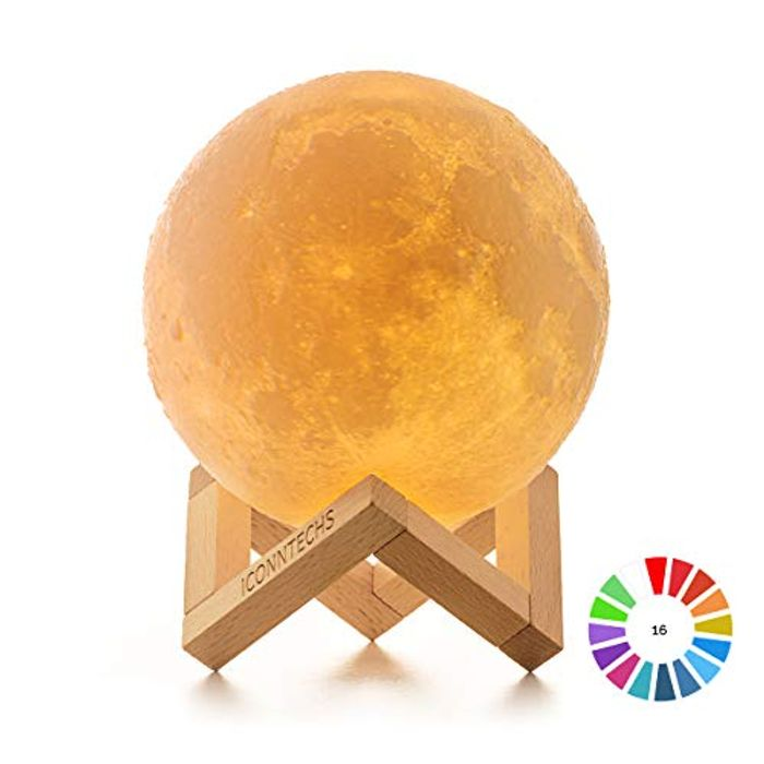 Cheap 3D Dimmable Moon Light on Sale From £14.99 to £7.99