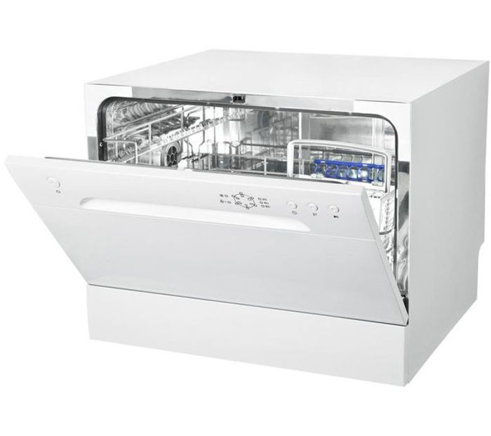ESSENTIALS Compact Dishwasher - White (6 Place Settings)