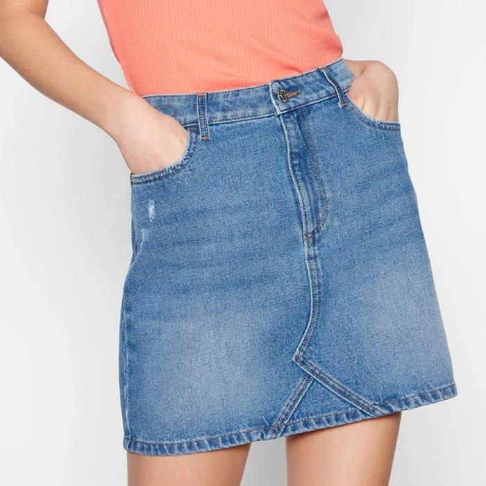 Women's Red Herring Blue Denim Mini Skirt (size 14) - save £17.50