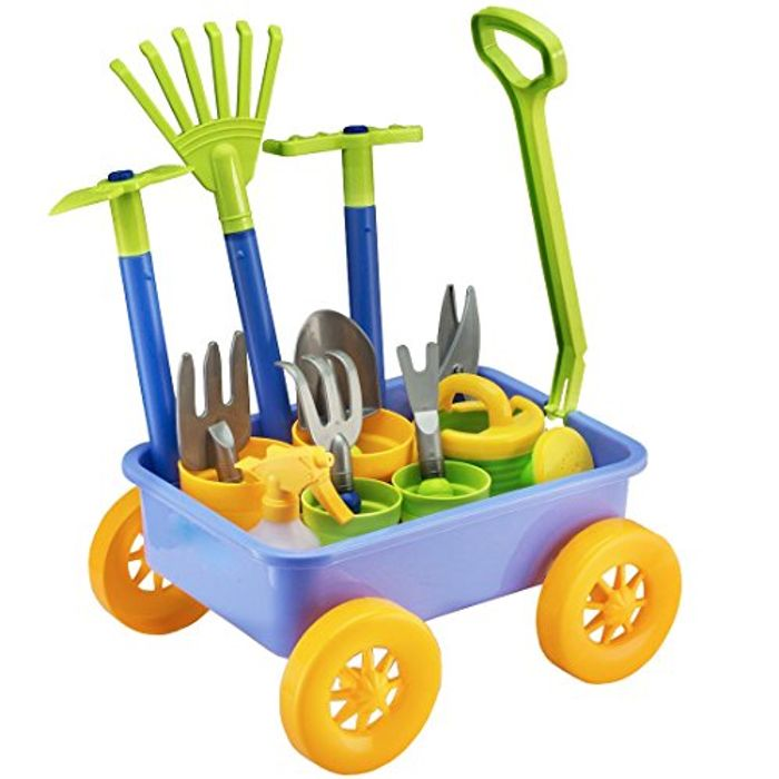 Pull along Kids Wagon Wheelbarrow & Gardening Tools & Accessories