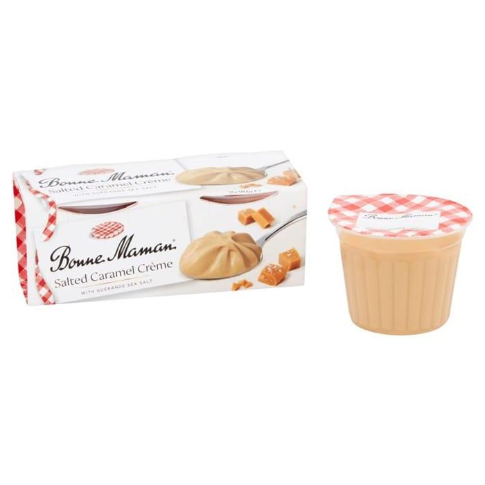 Bonne Maman - Salted Caremel Creme/Dark Chocolate Creme - Twin Pots