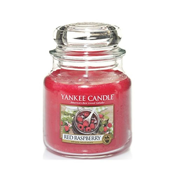 Yankee Candle Medium Jar Scented Candle, Red Raspberry
