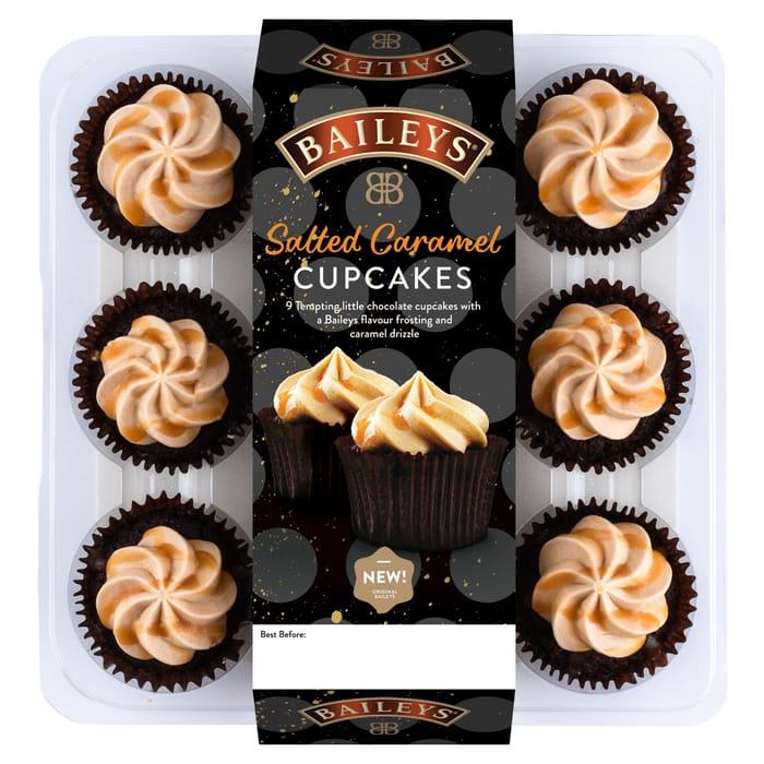 Baileys Salted Caramel Cupcakes 9 Pack