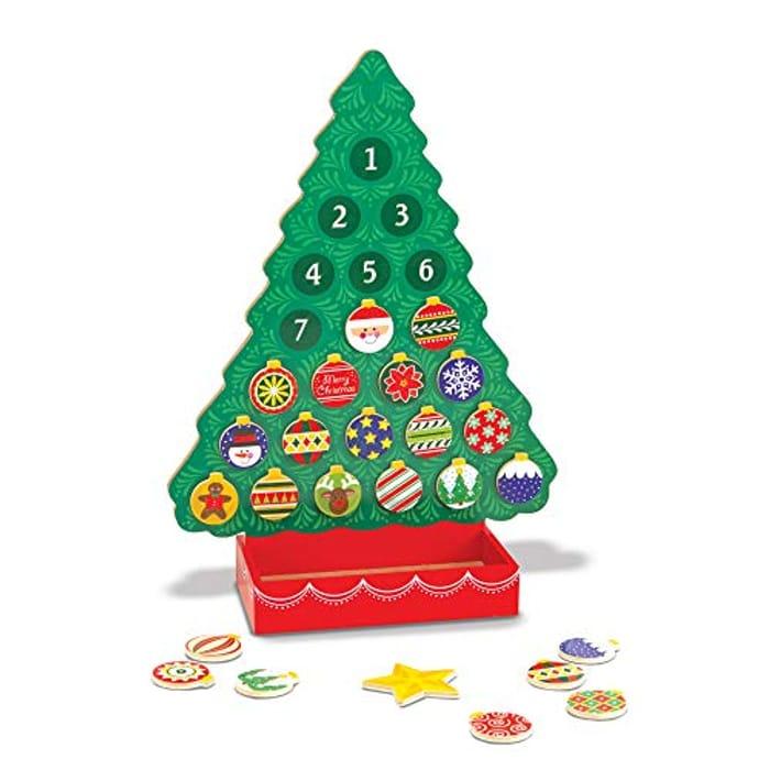 Melissa & Doug Magnetic Wooden Advent Calendar (Switch, Move & Re-Arrange!)