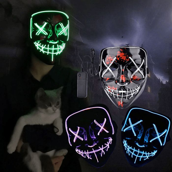 Cheap Purge LED Halloween Mask at Benibo Only £6.99