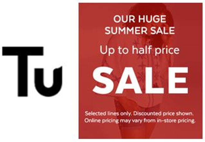 Tu Clothing Sale - up to 50% off at Sainsbury's