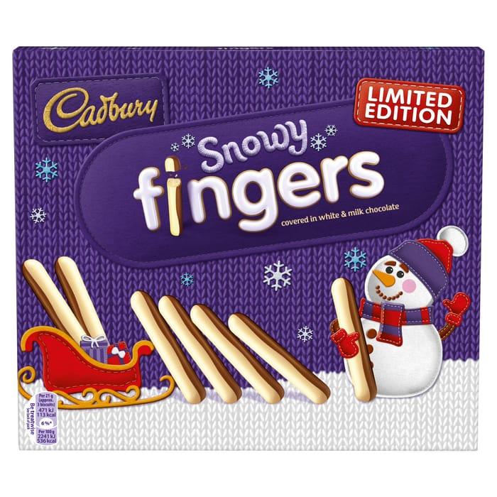 Limited Edition Cadbury Snowy Fingers 230G