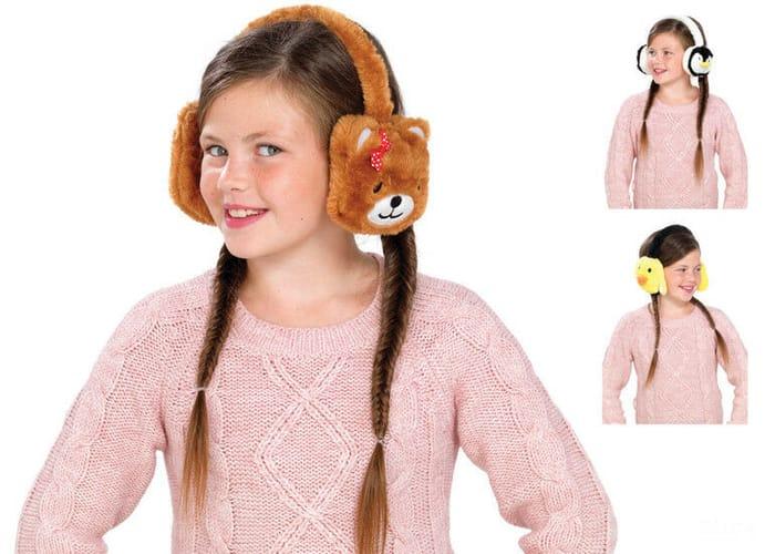 Best Price Kids Animal Earmuffs Winter Fleece Headband Faux Ear Muffs at Ebay