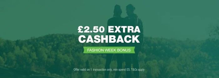 £2.50 Bonus Cashback on £5 Spend at TopCashback