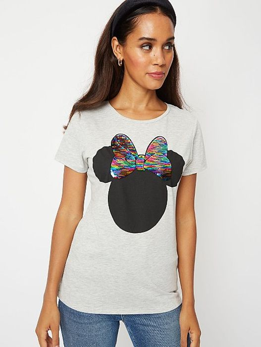 Disney Minnie Mouse Reversible Sequin Bow T Shirt - HALF PRICE!