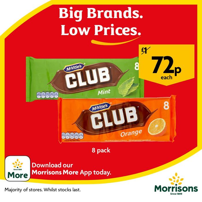 Mcvities Club 8pk Orange, Mint or Fruit