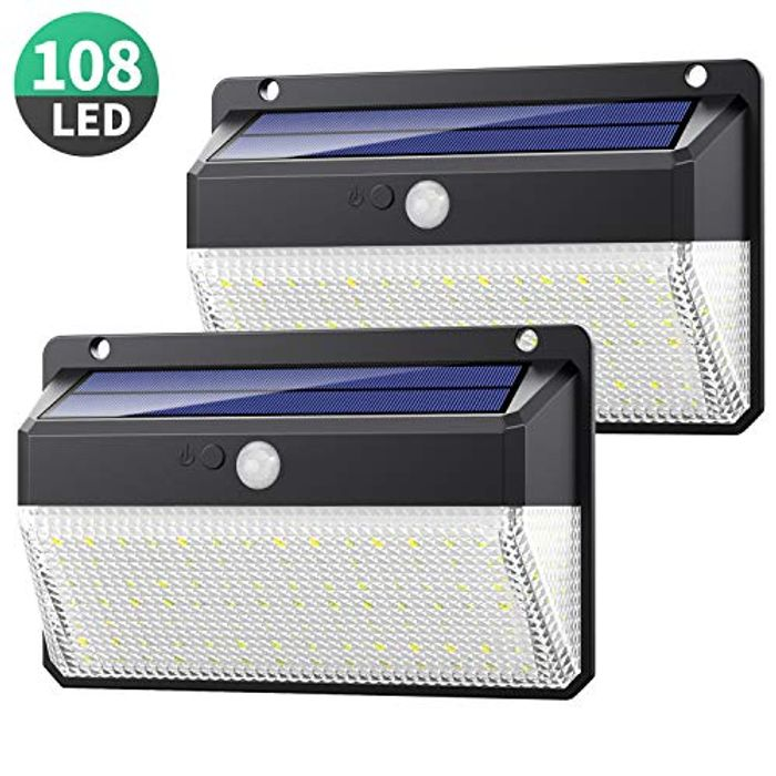 2 X Solar Powered Garden Lights - Almost HALF PRICE!