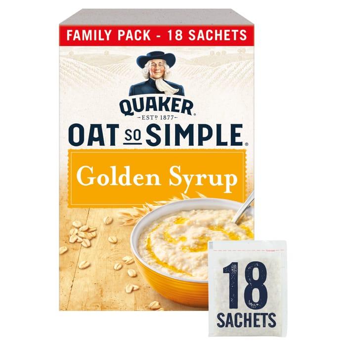 Quaker Q/S/S Golden Syrup Porridge Sachet 18X36g - HALF PRICE!