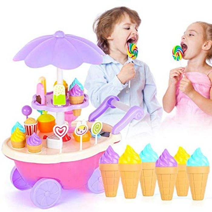 28pcs/Set New Kids Children Girls Ice Cream Cart