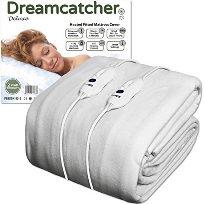 Cheap Dreamcatcher King Size Electric Blanket Luxury Polyester - Save £5