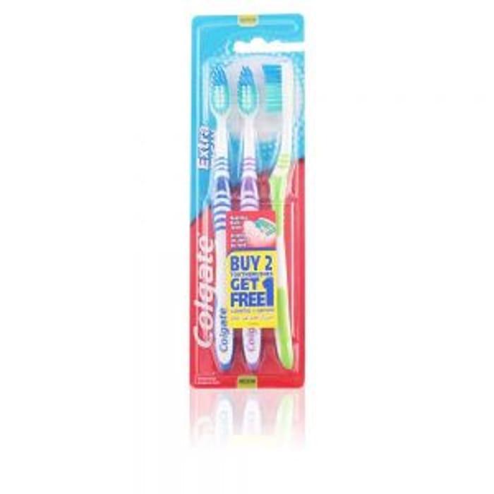Colgate Extra Clean Toothbrushes Medium 3 Pack