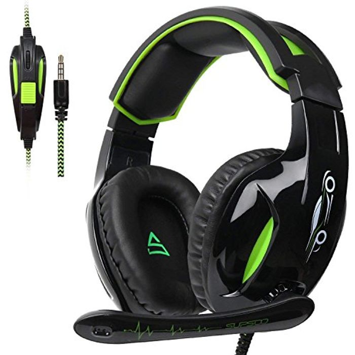 SUPSOO G813 Xbox One PS4 Gaming Headset 3.5mm Wired £12 with Dicount Code