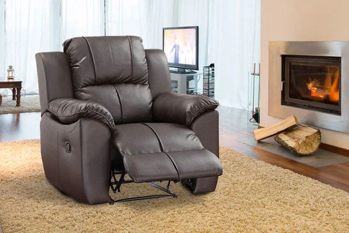 Bonded Leather Recliner Armchair 2 Colours